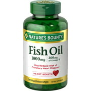 Nature's Bounty Fish Oil With Omega 3 Softgels, 1000 Mg, 145 Ct