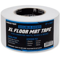 Meister Double-Sided XL Floor Mat Tape - Secures Exercise Mats