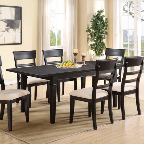 Emerald Home Dining Table with Butterfly Leaf - Black