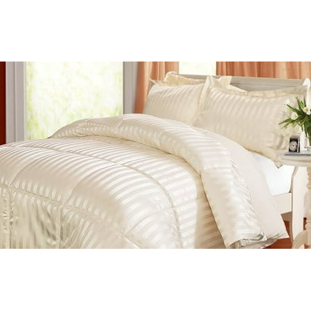 Kathy Ireland Home Essentials 3 Piece Reversible Down Alternative Comforter, King, Platinum