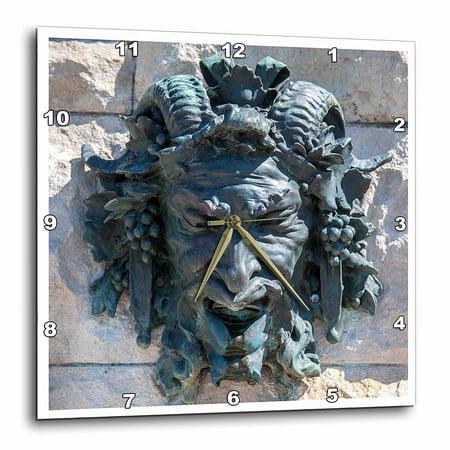 3dRose USA, North Carolina, Asheville, Biltmore House, Bacchus sculpture., Wall Clock, 15 by 15-inch