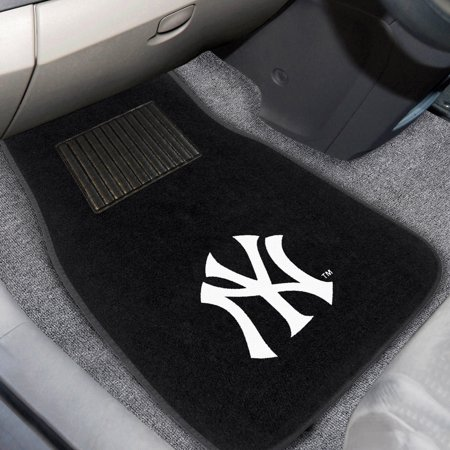 New York Yankees 2-Piece Embroidered Car Mat Set - No