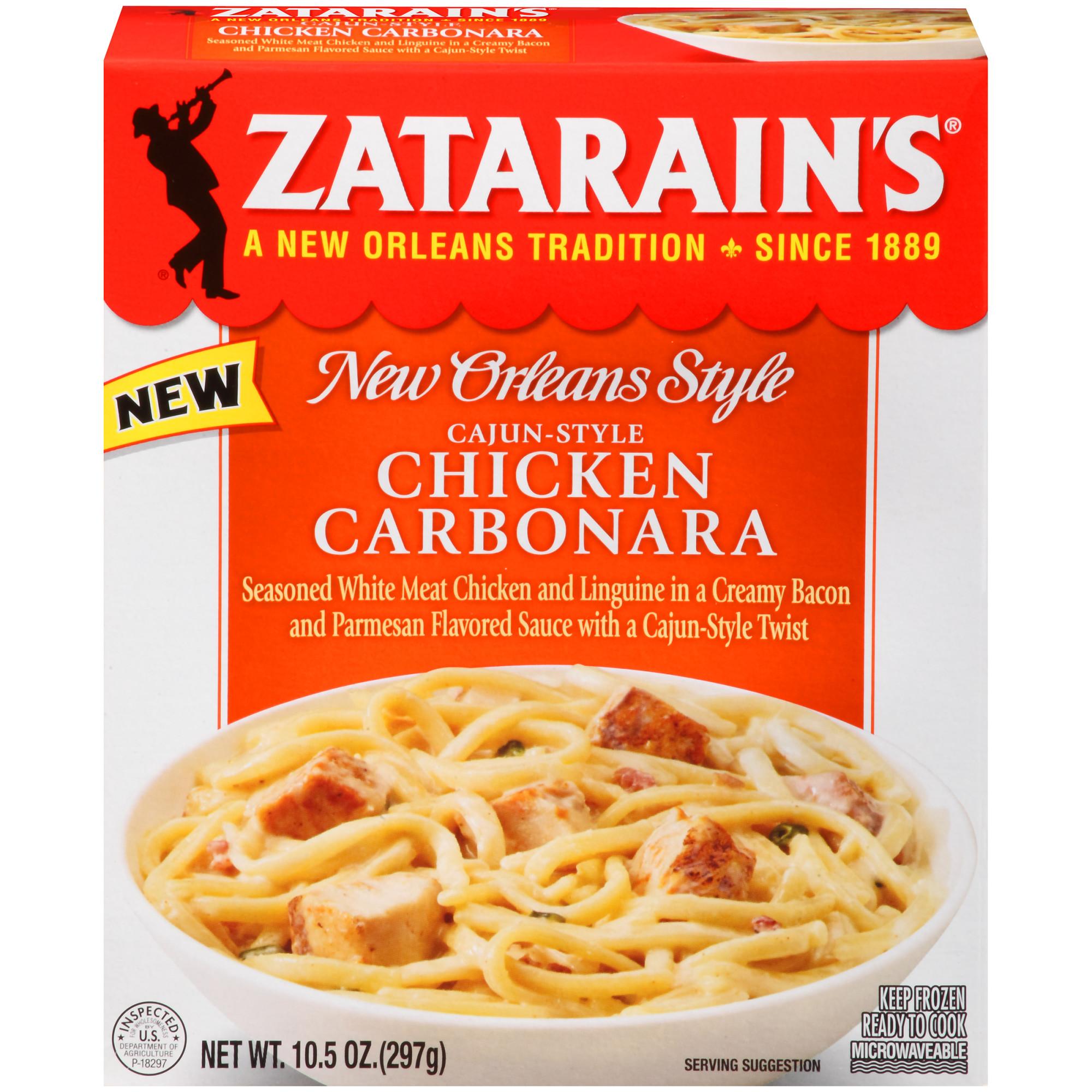 Zatarain's Frozen Cajun-Style Chicken Carbonara, 10.5 oz