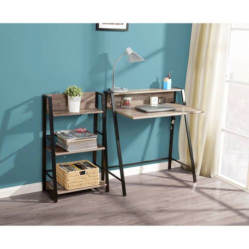 Mainstays 2 Tier Writing Desk Mocha Walmart Com