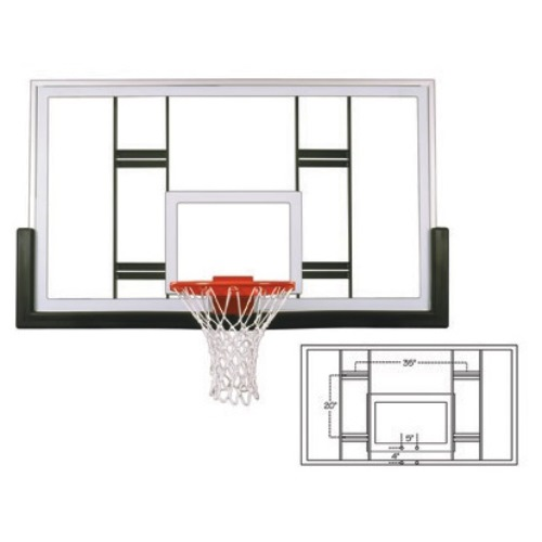 First Team Competition Glass Basketball Backboard - FT239