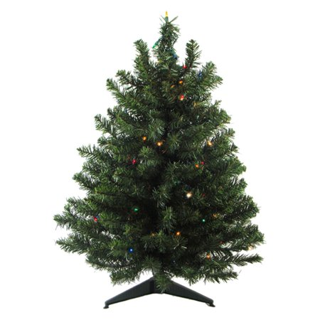 Northlight 18 in. Pre Lit Artificial Natural Two Tone Canadian Pine Christmas Tree ()
