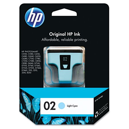 HP 02, (C8774WN) Light Cyan Original Ink Cartridge -HEWC8774WN