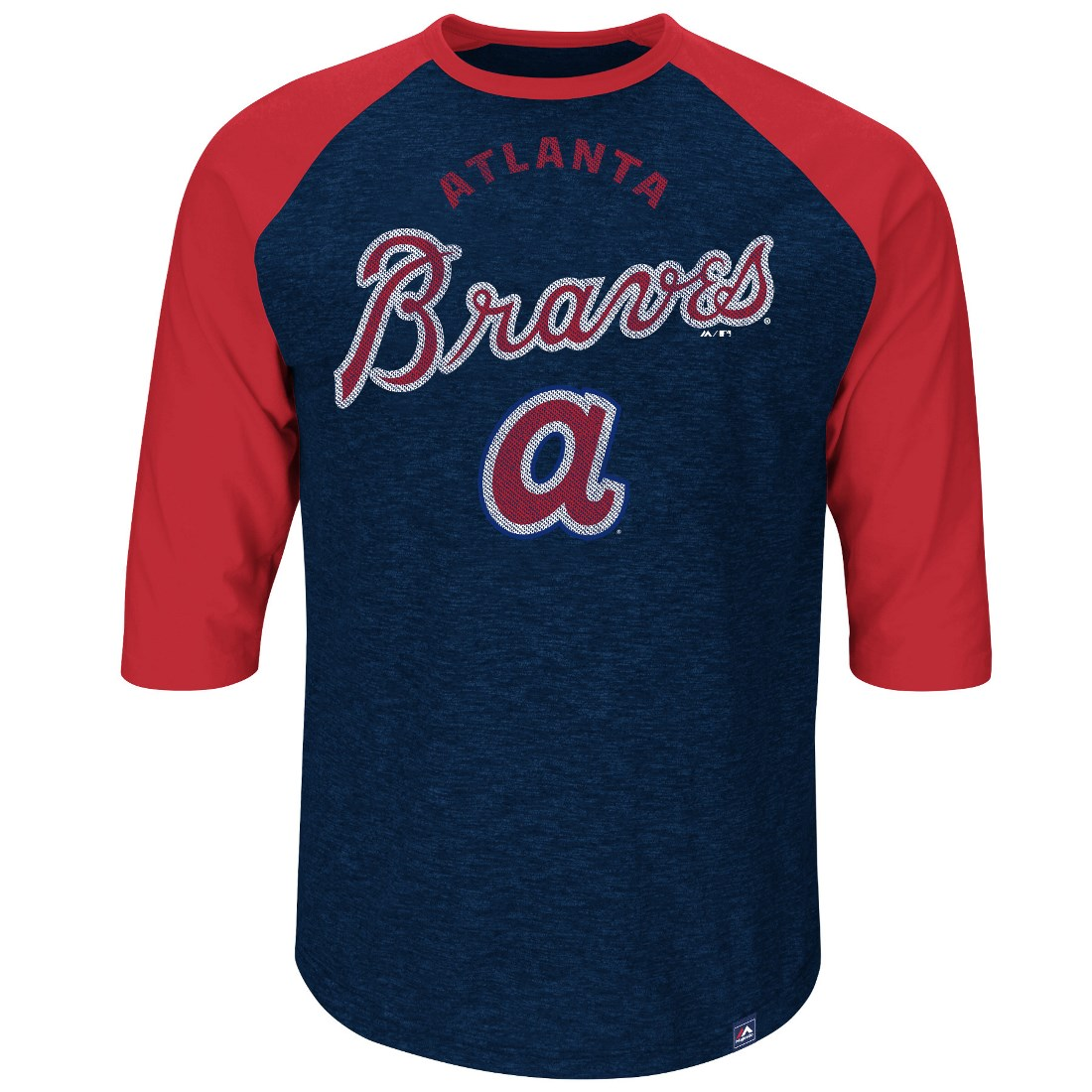 "Atlanta Braves Majestic MLB ""Don't Judge"" Cooperstown 3/4 Sleeve Slub Shirt"