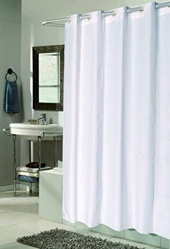 EZ-On No Hooks Needed Heavy Duty PEVA Shower Curtain Assorted Colors
