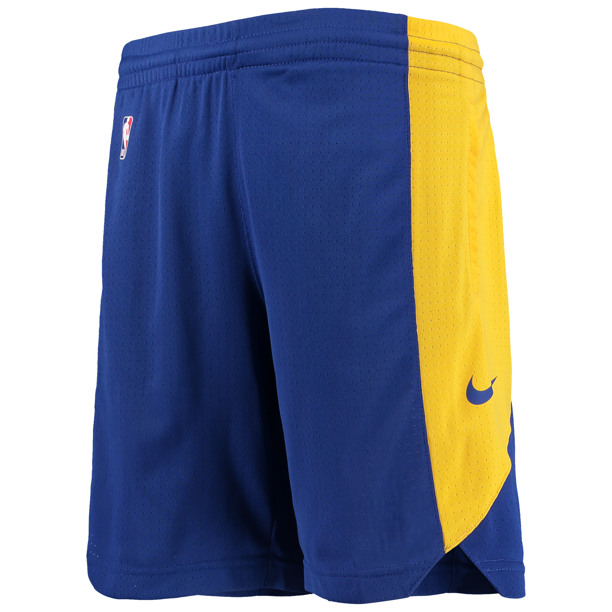 Golden State Warriors Nike Youth Performance Practice Shorts - Royal/Gold