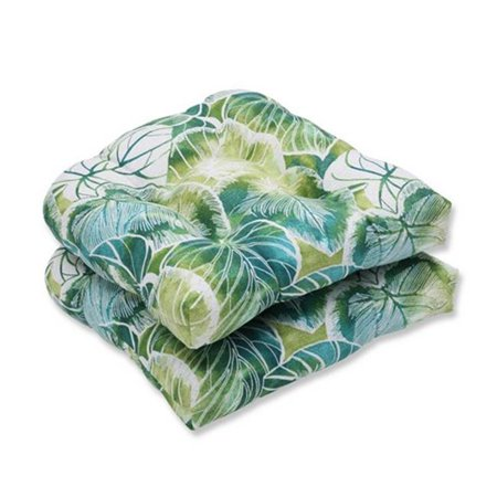 indoor outdoor key cove lagoon wicker seat cushion green set of 2