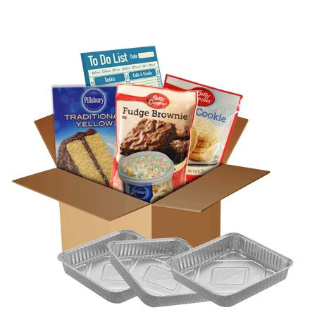 Baking Kit Box Quarantine Family Fun Assorted Cake and Cookie Mixes Duncan Hines Pillsbury Betty Crocker Icing Sprinkles and Pans Included (Sugar Cookie + Yellow Cake + Fudge Brownie) -  Doncan Hinse, Betty Crocker, Pillsbury