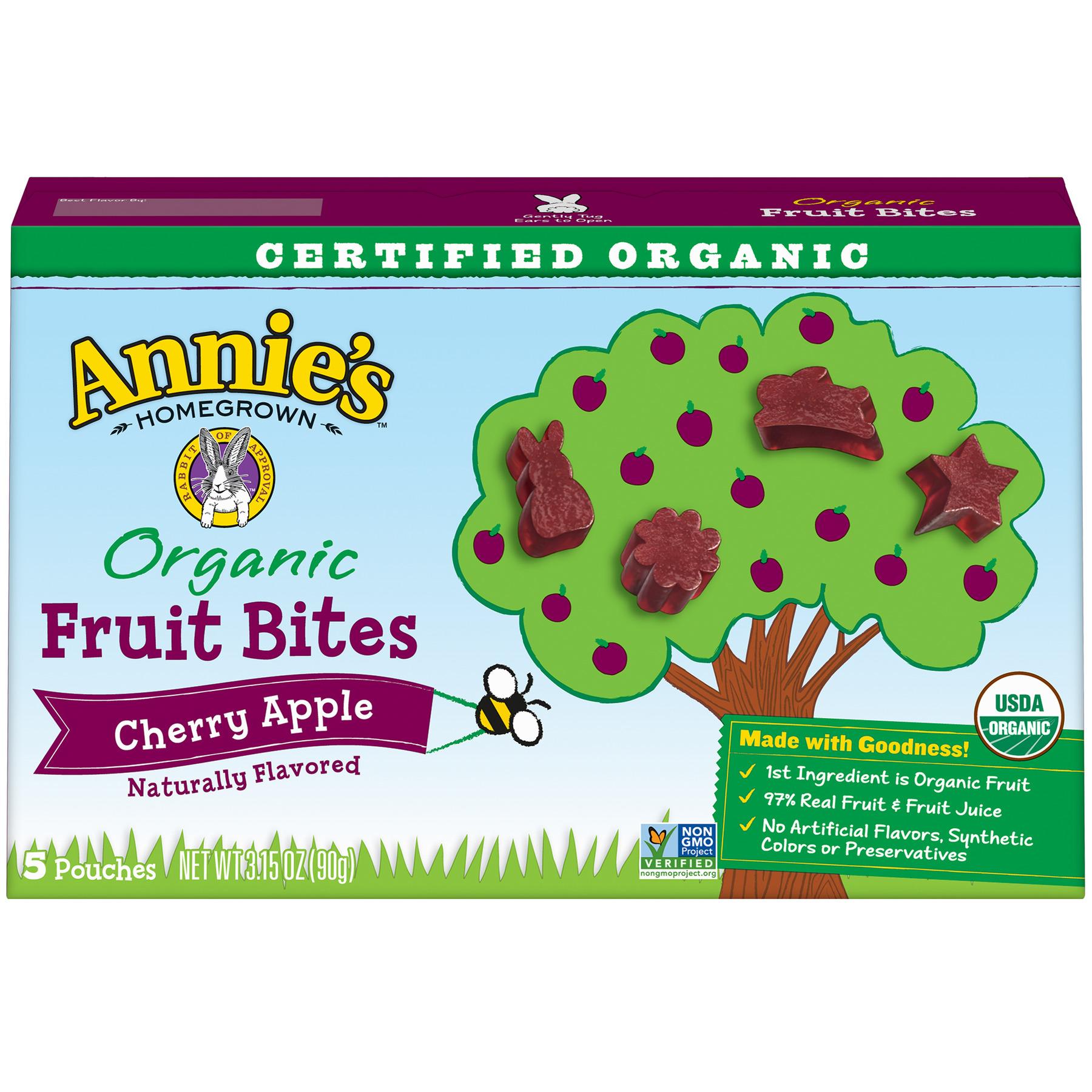 Annie's Organic, Gluten Free, Cherry Apple Fruit Bites, 5 ct, 3.15 oz
