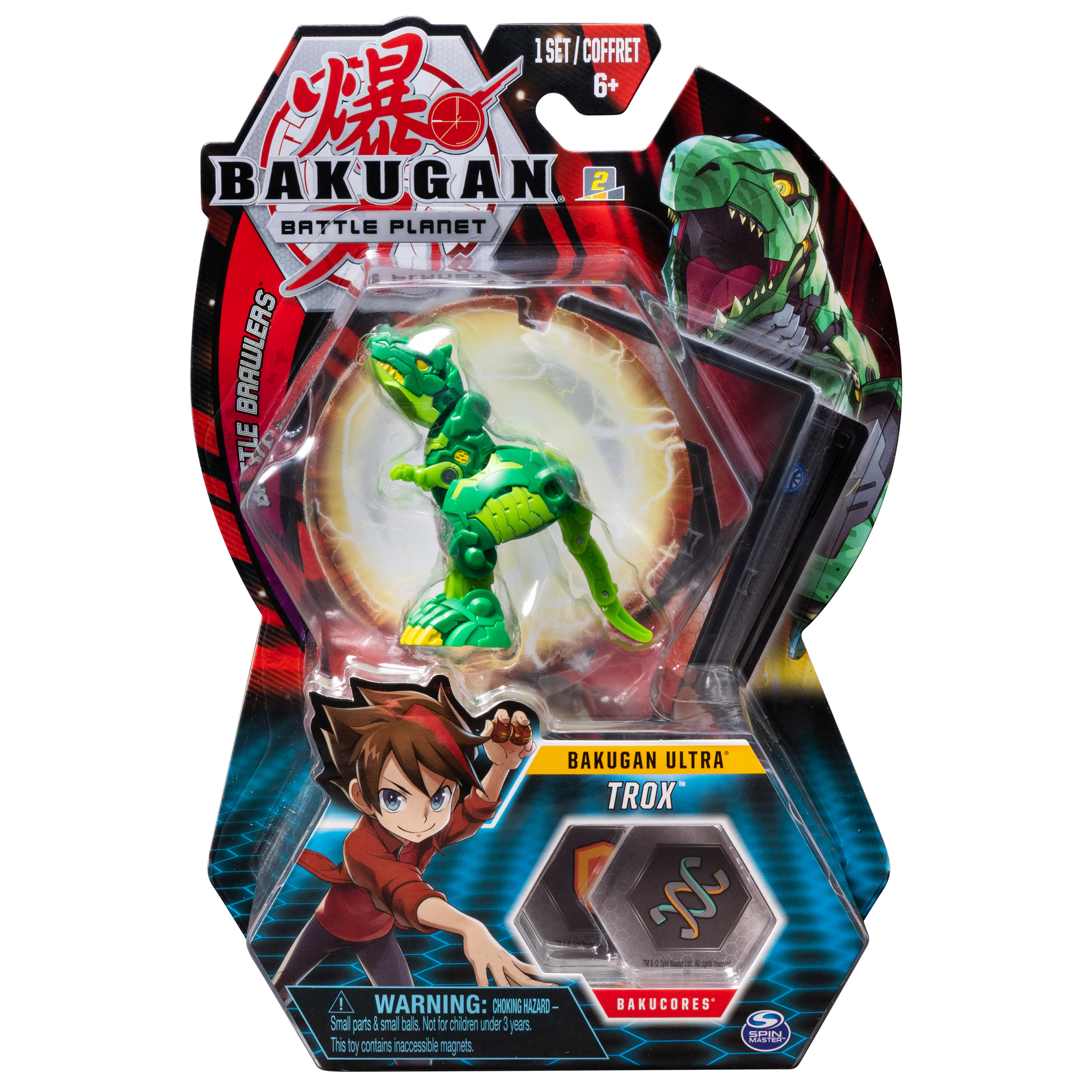 Bakugan Ultra, Trox, 3-inch Collectible Action Figure and Trading Card, for Ages 6 and Up