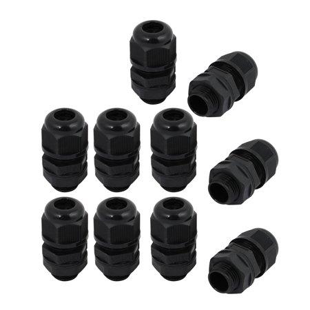 10pcs M16 x 1.5mm Nylon 4 Holes Cable Gland Connector Joint Black MA16-H4-03 - image 3 de 3