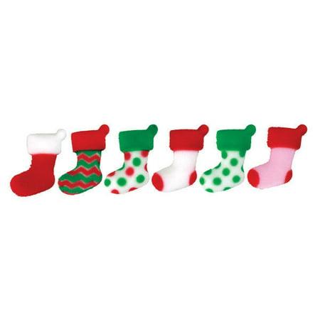 Christmas Elf Stocking Stuffers Edible Sugar Decorations - 12 Count - National Cake - Elf Stockings For Christmas