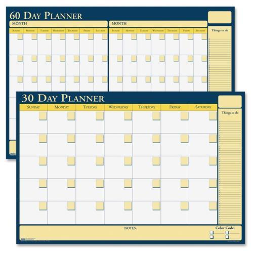 """641 House of Doolittle 30/60-Day Undated Laminated Planner - Daily - 24"""" x 18"""" - 2 Month"""