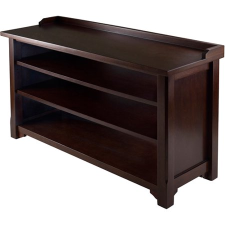 Dayton Entryway Bench With Shoe Storage Walnut