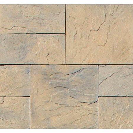 nantucket pavers patio-on-a-pallet 126 in  x 126 in  concrete tan  variegated kingsmill yorkstone paver