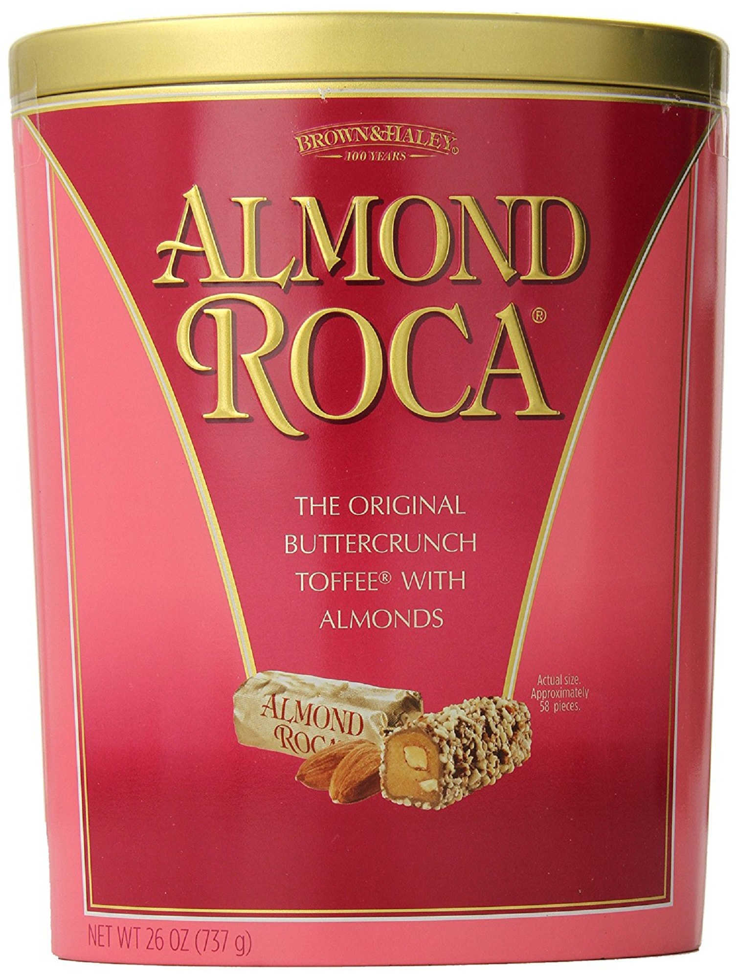 Almond Roca Buttercrunch Toffee with Almonds 26 oz by Brown & Haley