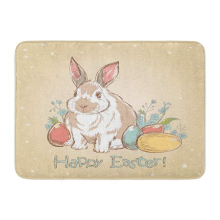 Sidonku Rabbit Easter Bunny Retro With Cute Flowers And