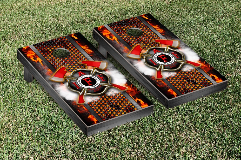 Fire Department Fire Fighter Themed Regulation Cornhole Game Set by Victory Tailgate