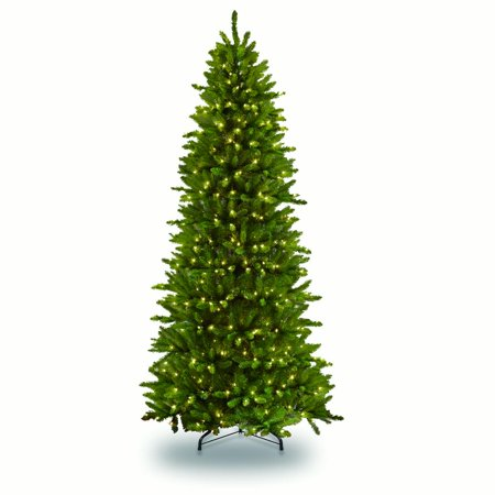 10 ft Pre-lit Slim Fraser Fir Artificial Christmas Tree 900 UL listed Clear Lights