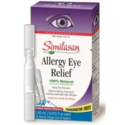 Similasan Allergy Eye Relief Single-Use Droppers .02 oz (Pack of 2)