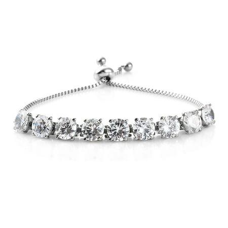 Hypoallergenic Round Cubic Zircon CZ Pink Tennis Bracelet for Women Cttw 17.1 Jewelry Gift