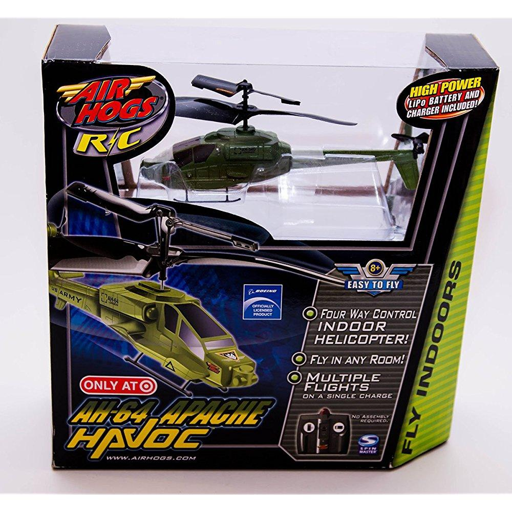 Spin Master Air Hogs R/C AH-64 Army Apache Havoc Heli Ind...