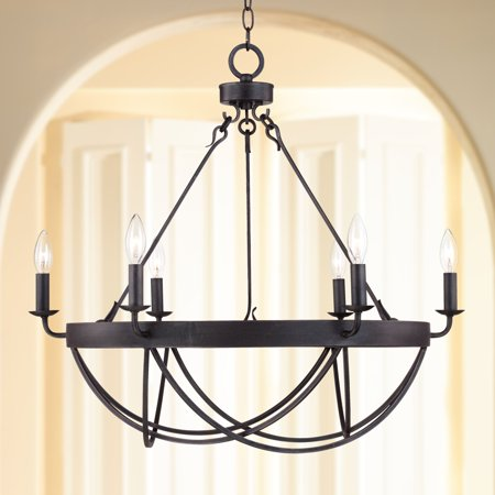 Ventura Square Chandelier (Franklin Iron Works Lyster Square 28