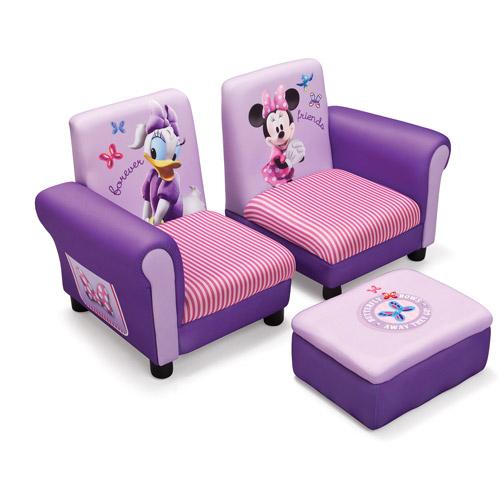 Delta Children Disney Minnie Mouse Kids Sofa and Ottoman