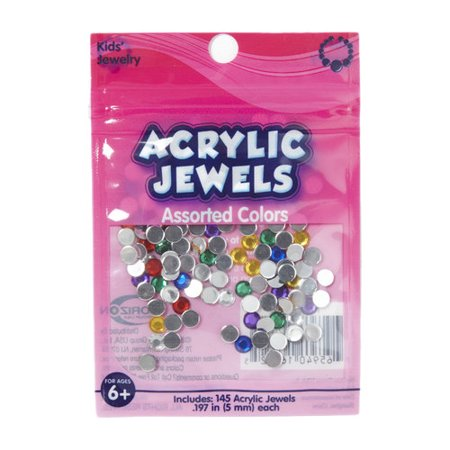 Kids craft acrylic stones 5mm assorted colors for Craft smart acrylic paint walmart