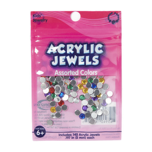 Kids Craft Acrylic Stones, 5mm, Assorted Colors