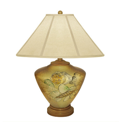 JB Hirsch Home Decor Shells 23'' H Table Lamp with Empire Shade