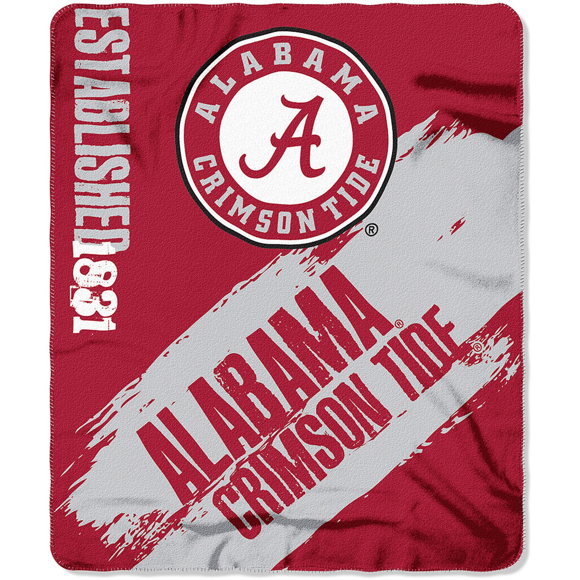 "NCAA Alabama Crimson Tide 50"" x 60"" Fleece Throw"