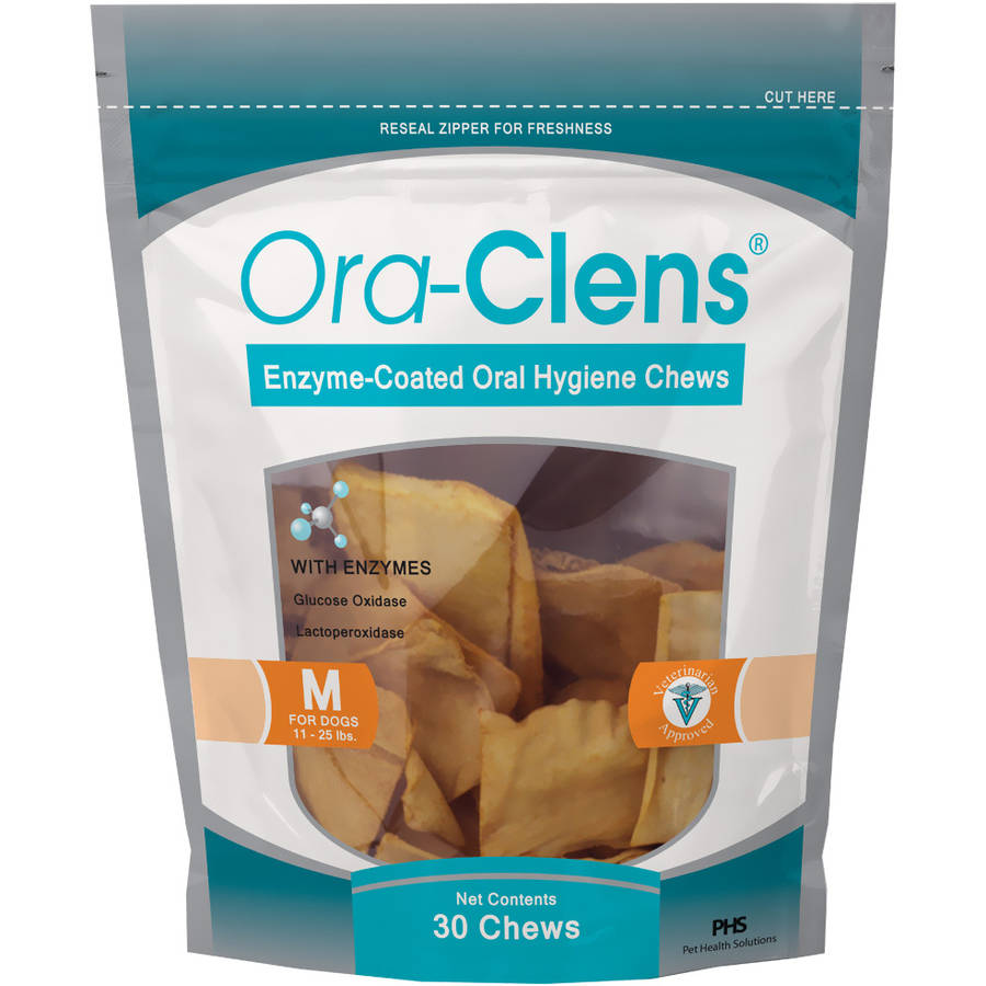 Ora-Clens Oral Hygiene Chews Medium, 30-Count Bag
