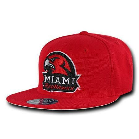 Miami University MU RedHawks NCAA Fitted Flat Bill - Hat / Cap _6 - Mu Hat