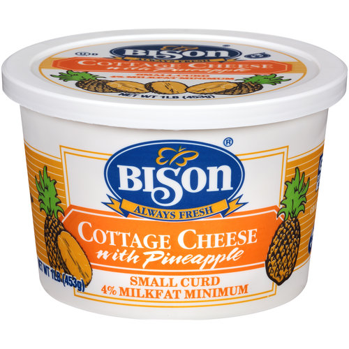 Bison Small Curd Cottage Cheese with Pineapple, 16 oz