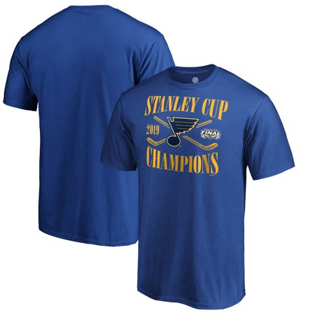 St. Louis Blues Fanatics Branded 2019 Stanley Cup Champions Hand Pass T-Shirt - Royal - St Louis Halloween Events