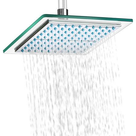"""AKDY SH0001 8"""" Bathroom Rainfall Shower Head, Chrome"""