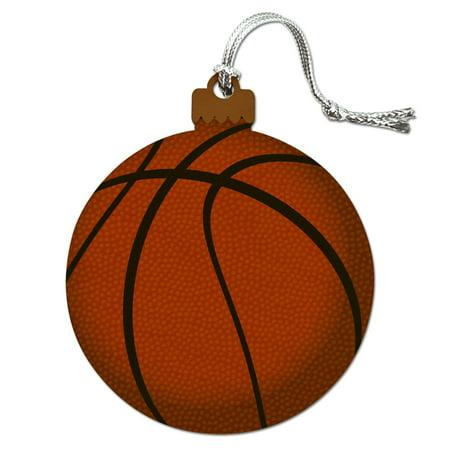 Basketball Ball Wood Christmas Tree Holiday Ornament - Glass Basketball Christmas Ornaments