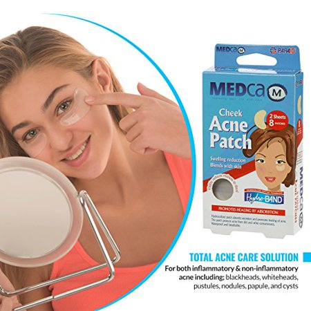 Acne Care Pimple Patch Absorbing Cover - Cheek Size Acne Spot Treatment Hydrocolloid Bandage Face & Skin Spot Patch Conceals Acne, Reduces Pimples and Blackheads