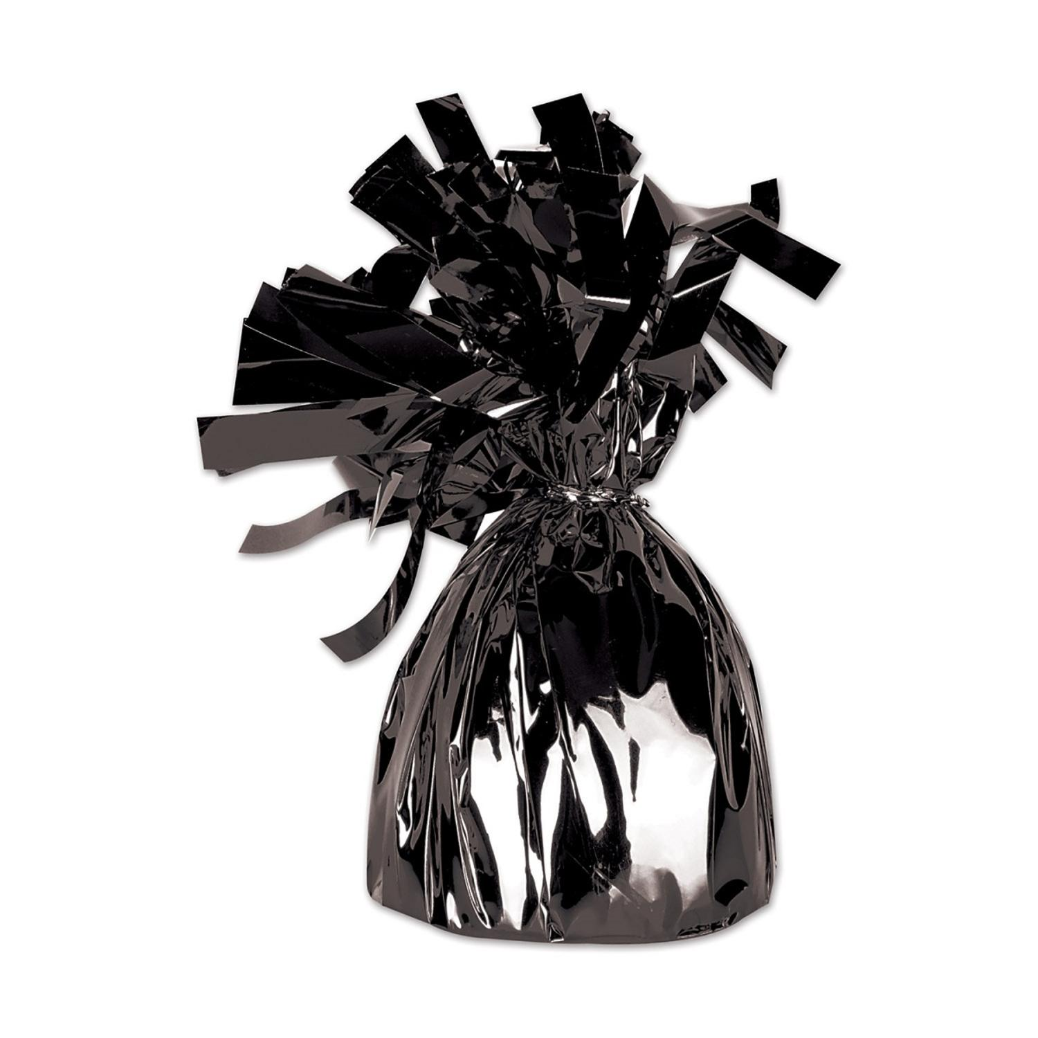 Club Pack of 12 Metallic Black Party Balloon Weight Decorative Birthday Centerpieces 6 oz.