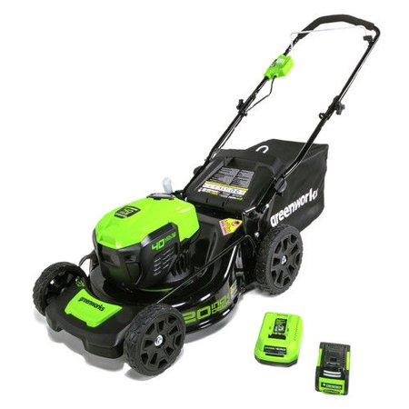 - Greenworks G-MAX 20-Inch 40V Cordless 3-in-1 Lawn Mower with Smart Cut Technology, 4Ah Battery and Charger Included MO40L410