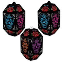 (Pack of 12) Beistle Day Of The Dead Paper Lanterns