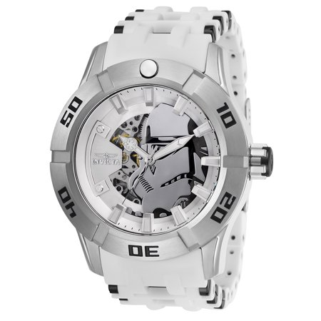 Mens Star Wars Watch (Invicta Men's 26554 Star Wars Automatic 3 Hand Silver Dial)