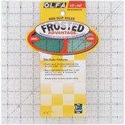 "OLFA Frosted Advantage Non-Slip Ruler ""The Alternative""-9-1/2""X9-1/2"""
