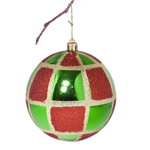 Perfect Holiday 3.9'' Shatterproof Handpainted Christmas Ball Ornament