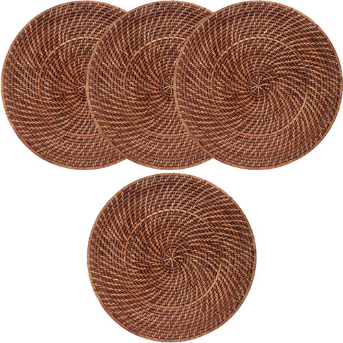 Rattan Straw Placemats, Set of 4